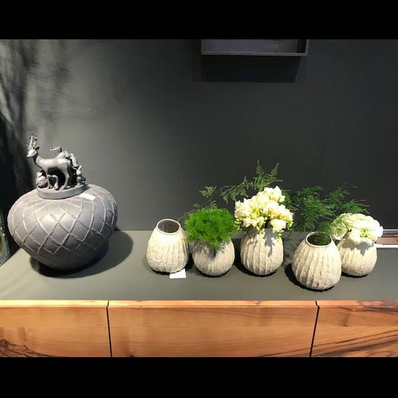 Deckelvase Flora Vasen Serie Eukalyptus