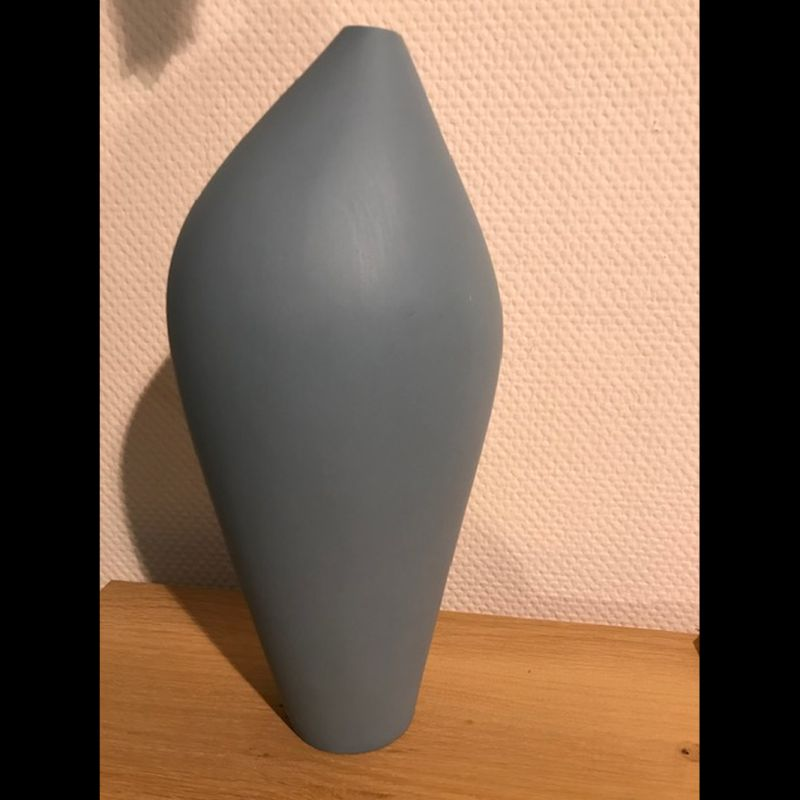 Vase Style blau  DM 18 H 40 cm